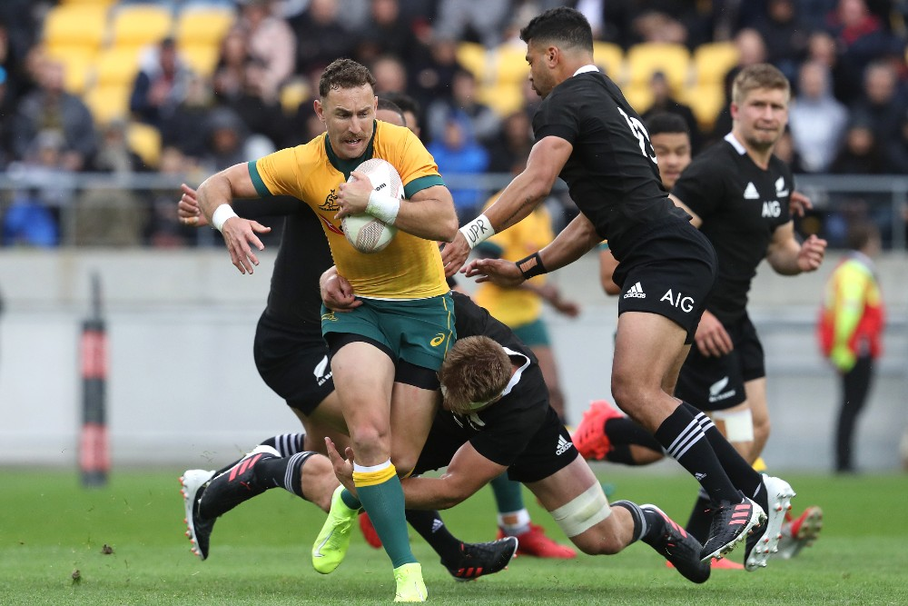 Nic White had his best game in a Wallabies jersey in Bledisloe I, 2020. Photo: Getty Images