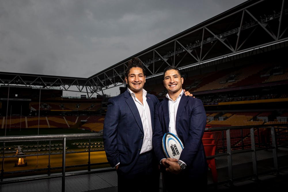 The Fainga'a twins are well aware of the Brumbies-Reds rivalry. Photo: Brendan Hertel/QRU