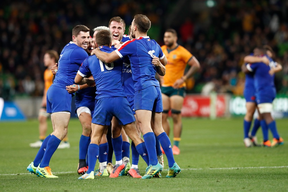 France levelled the series with a late victory over the Wallabies. Photo: Getty Images