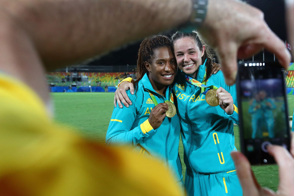 The Aussie sevens haven't stopped winning after Rio. Photo: Getty Images