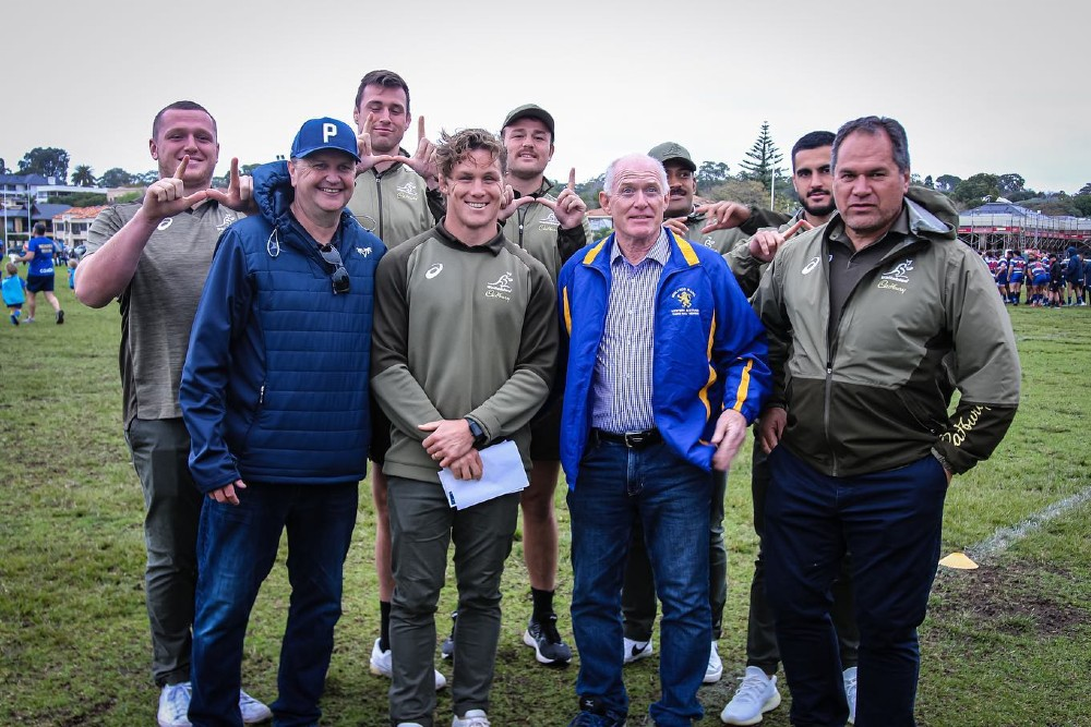 Michael Hooper and the Wallabies throw support behind the bid. Photo Supplied