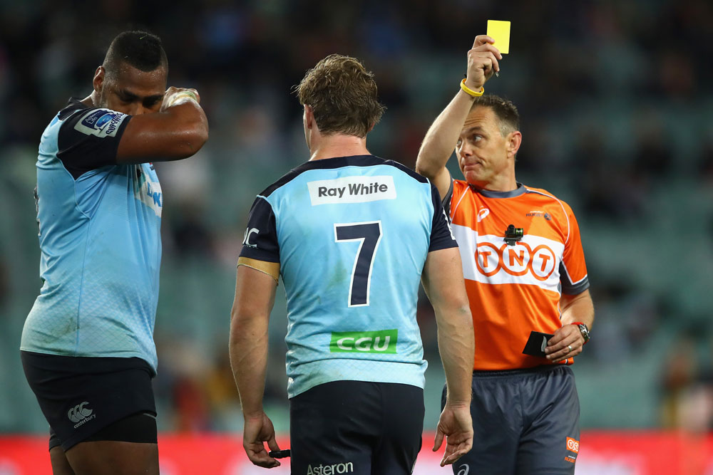 Taqele Naiyaravoro was yellow-carded in the loss to the Hurricanes. Photo: Getty Images