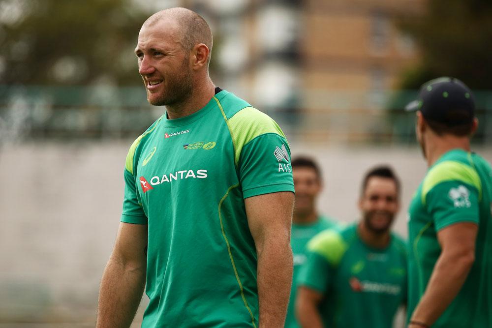 James Stannard has left hospital this morning. Photo: Rugby AU/Karen Watson