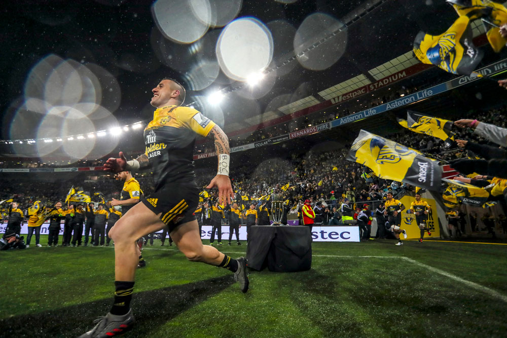 TJ Perenara running out for the final. Photo: Getty Images