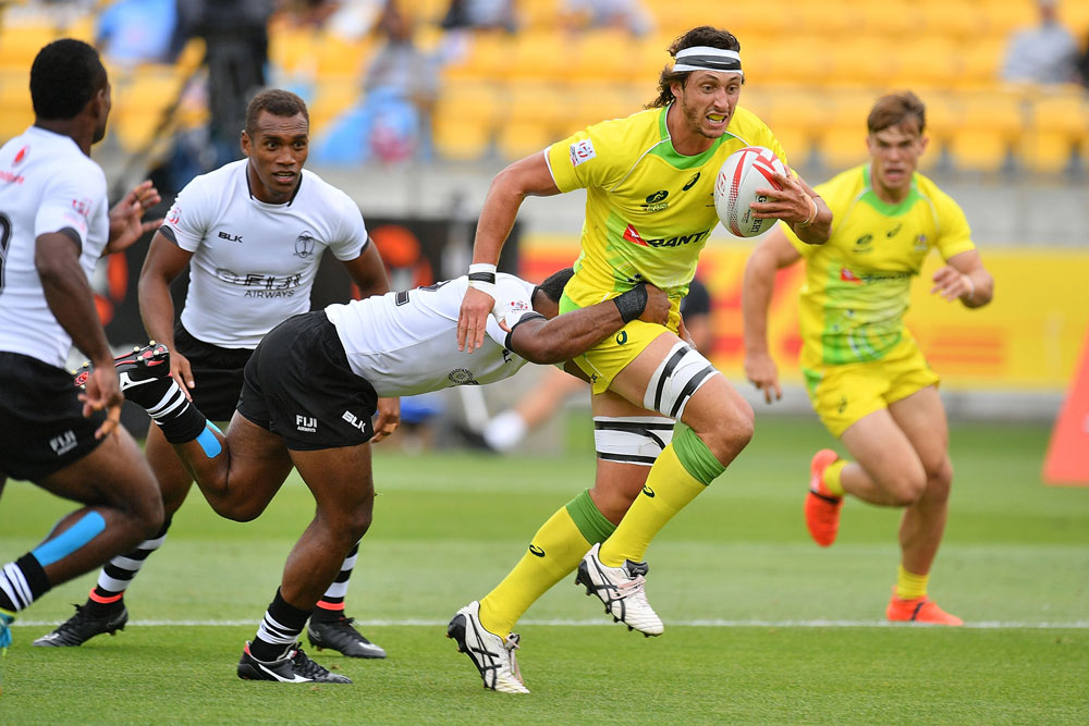 Sam Myers captained the Aussies in Wellington. Photo: AFP