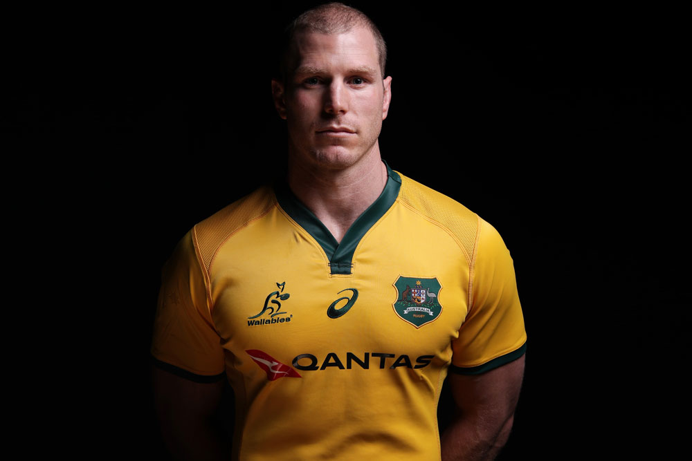 David Pocock in the new Wallabies jersey. Photo: Getty Images