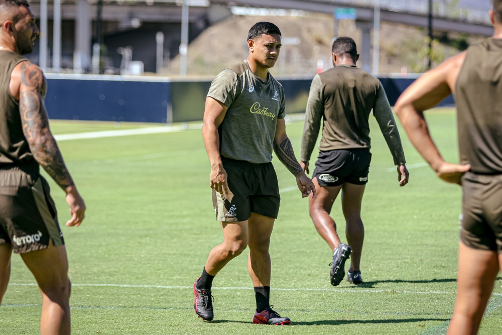 Len Ikitau reflects on his wild 12-month jersey from shy rookie to Wallabies centre. Photo: Andrew Phan/Wallabies Media