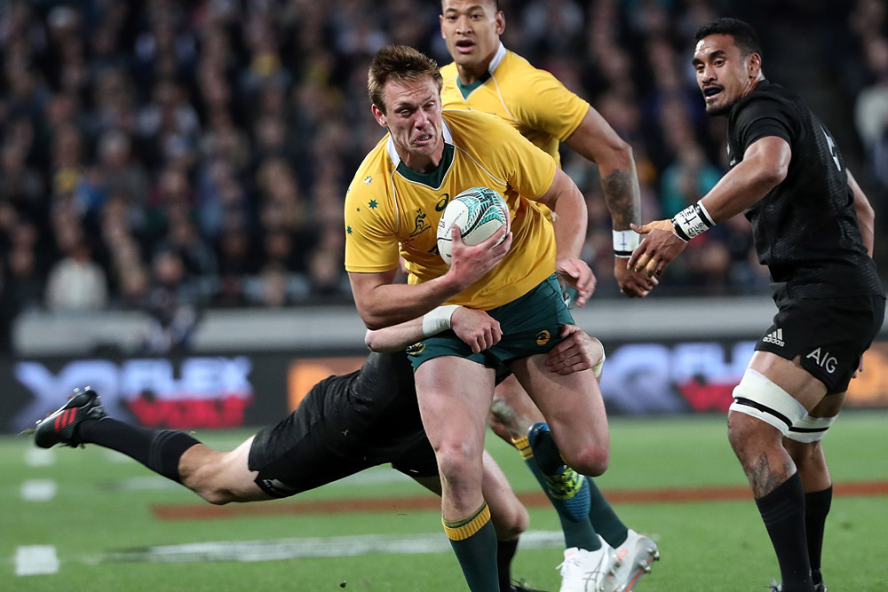 Dane Haylett-Petty was ruled to be obstructing Julian Savea. Photo: Getty Images