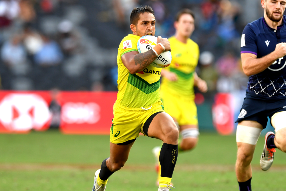 The Australian Men's Sevens team was on the rise. Photo Getty Images.