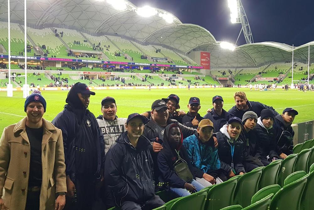 Emerson School at Melbourne Rebels match, AAMI Park