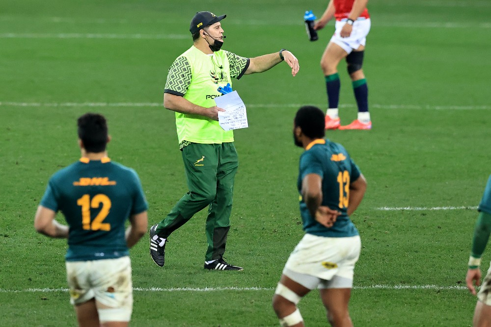 Rugby Australia has slammed comments from Rassie Erasmus regarding Nic Berry. Photo: Getty Images