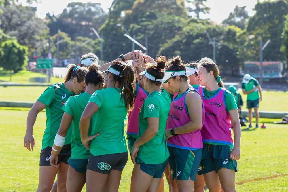 The Aussies Sevens side are set for their first international action in nearly 500 days. Photo: Harrison Wakeling.