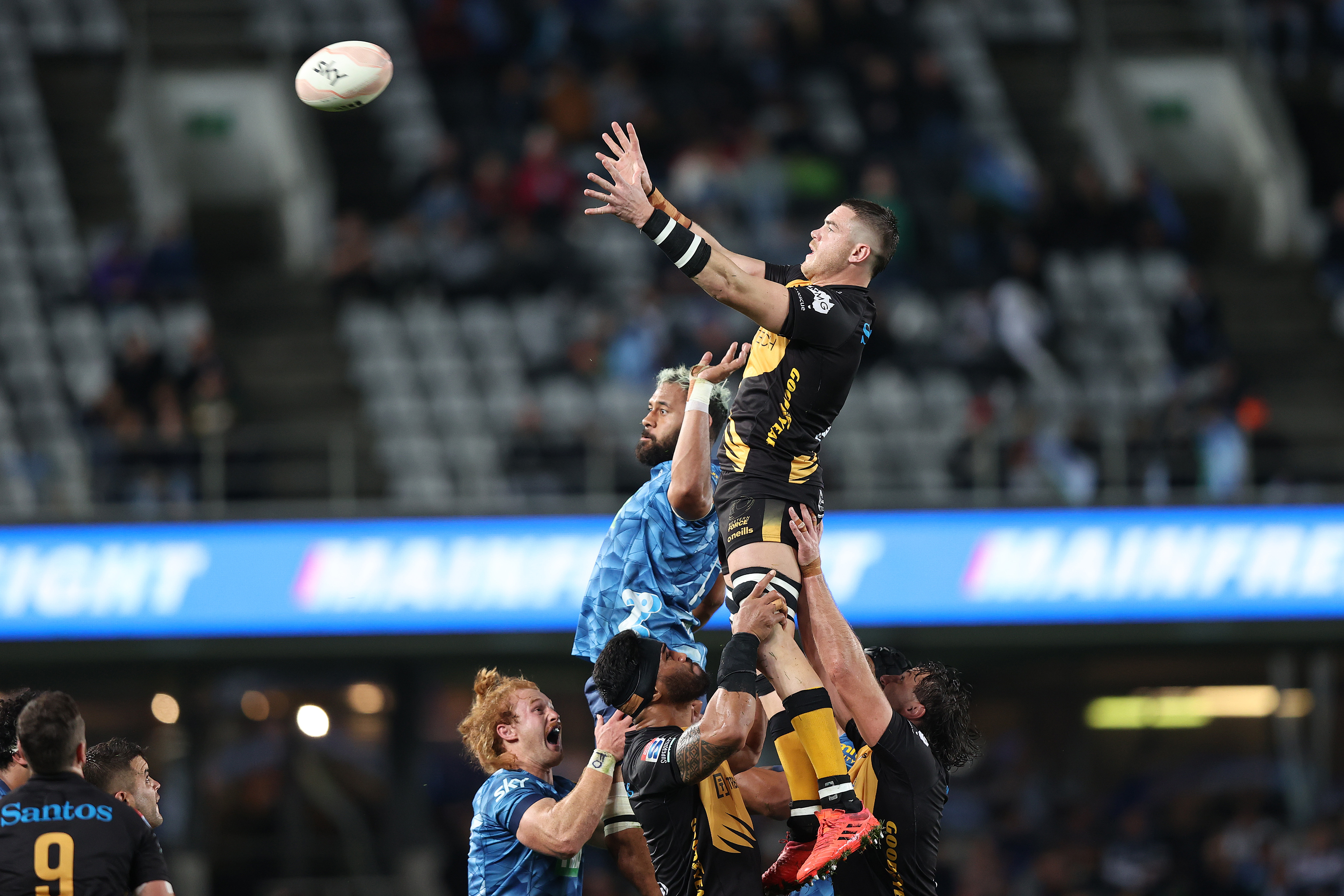 Fergus Lee-Warner up for a lineout steal
