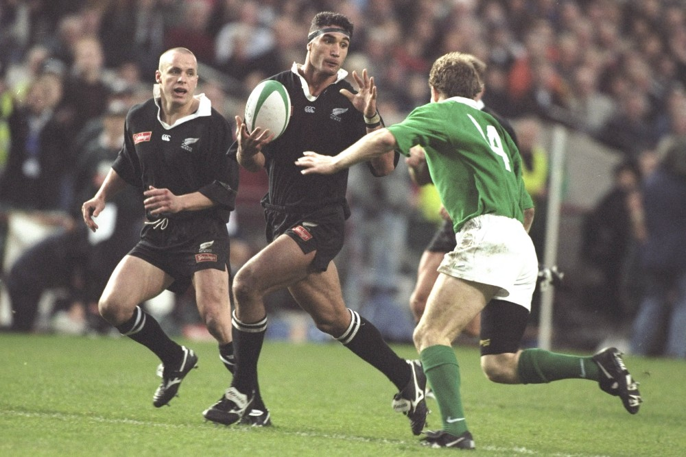 Ex-All Black Andrew Blowers has signed with the Rebels as a leadership coach. Photo: Getty Images