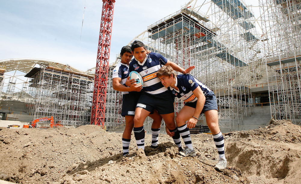 A vision for Rugby. Victorian Schoolboys outside AAMI Parkin 2009. Photo: Getty Images