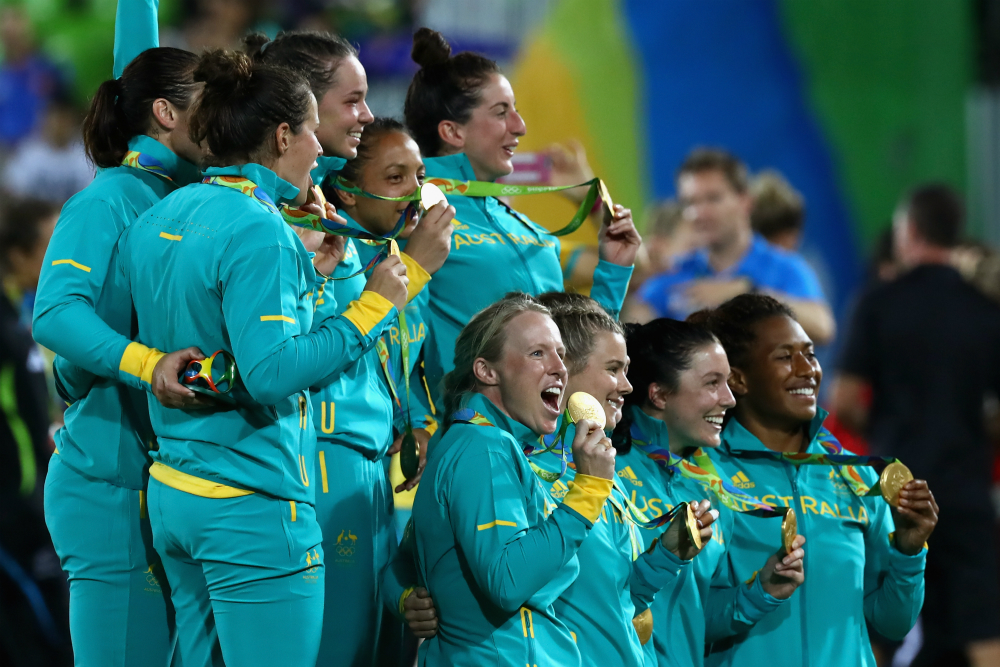 Australia's women side will be looking for back-to-back gold. Photo: Getty Images