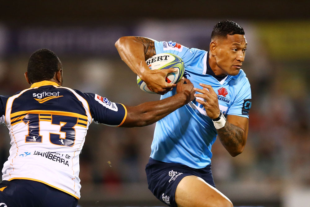 Israel Folau will have a meeting over his social media use. Photo: Getty Images