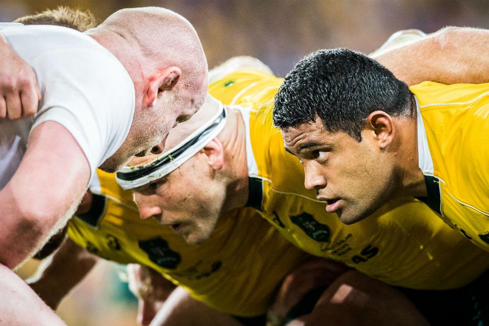 Australia won't buy into any criticism of the England scrum. Photo: ARU Media/Stu Walmsley