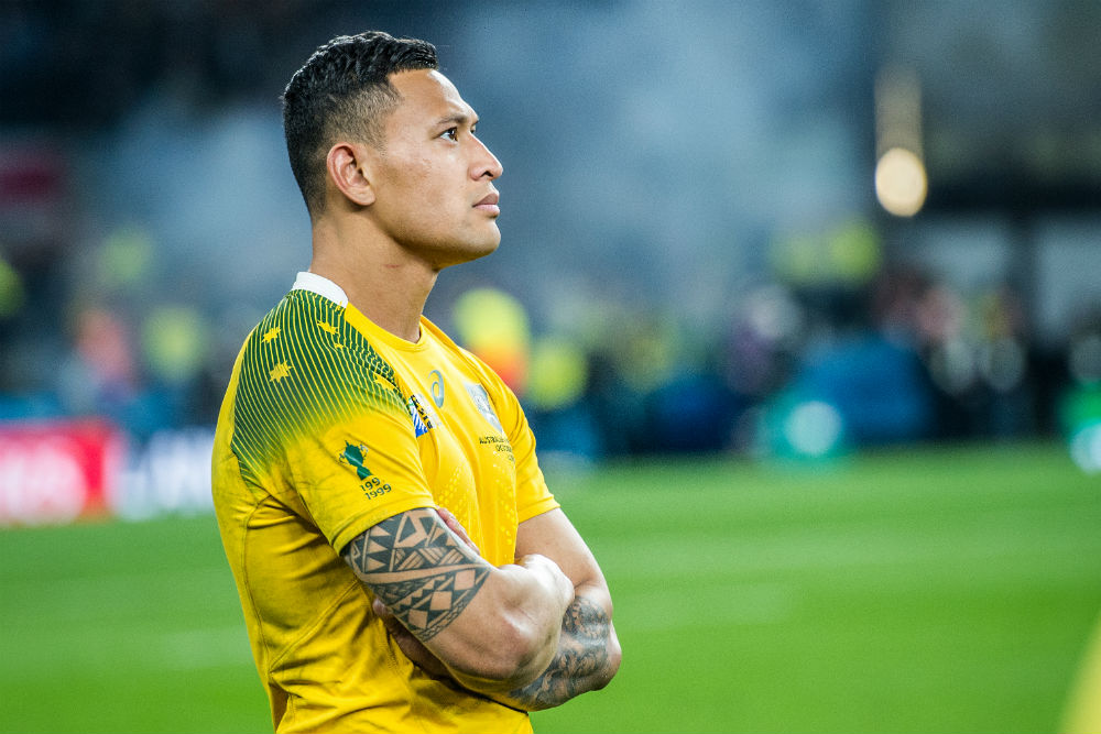 Folau has moved on from last year's Rugby World Cup final loss. Photo: ARU Media/Stu Walmsley