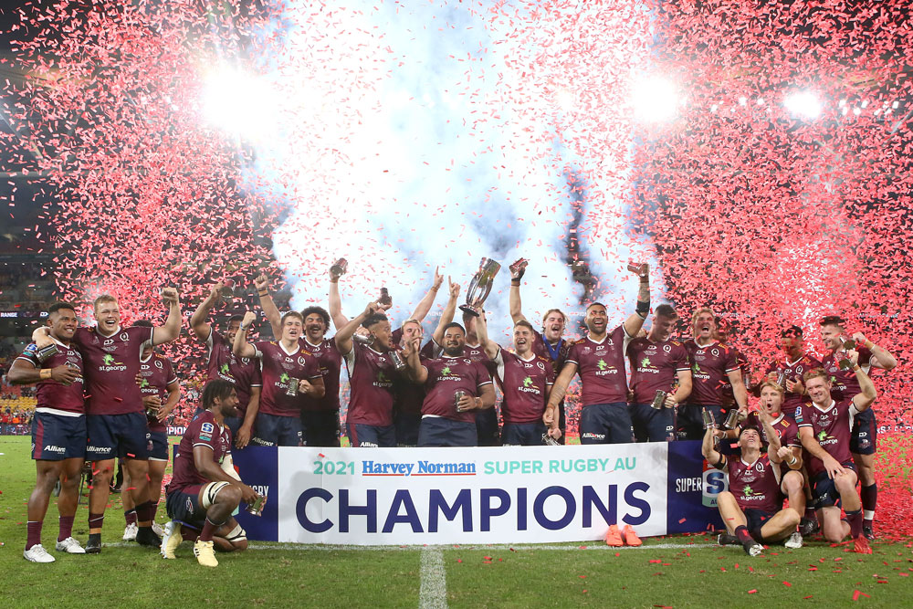 The Queensland Reds celebrate a famous victory. Photo: Getty Images