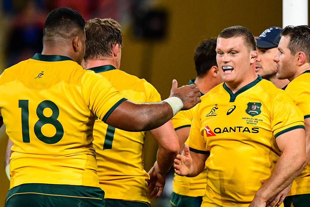 Taniela Tupou and Tom Robertson made an impact when they came on in Brisbane. Photo: RUGBY.com.au/Stuart Walmsley