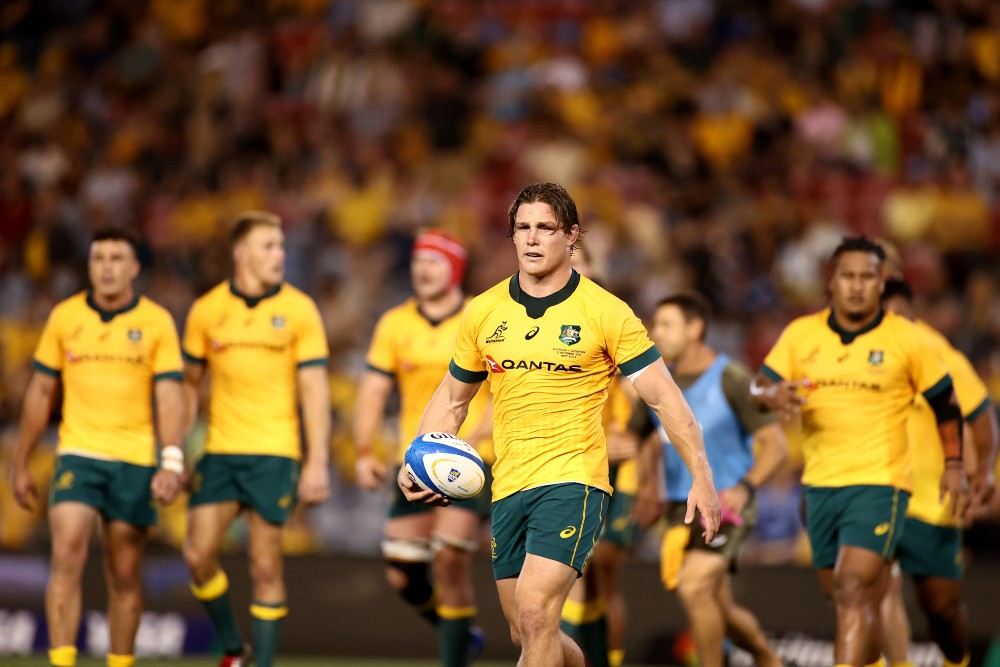 Michael Hooper leads the Wallabies squad to face France. Photo: Getty Images