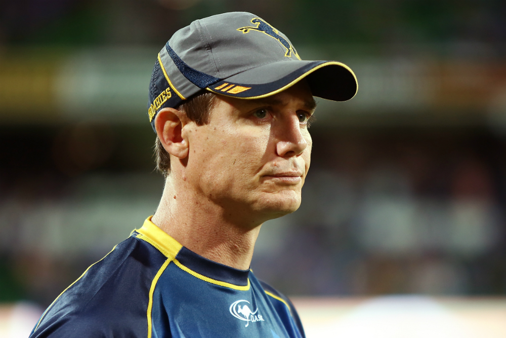 Can Stephen Larkham lift the Super Rugby trophy in his last year as head coach? Photo: Getty Images