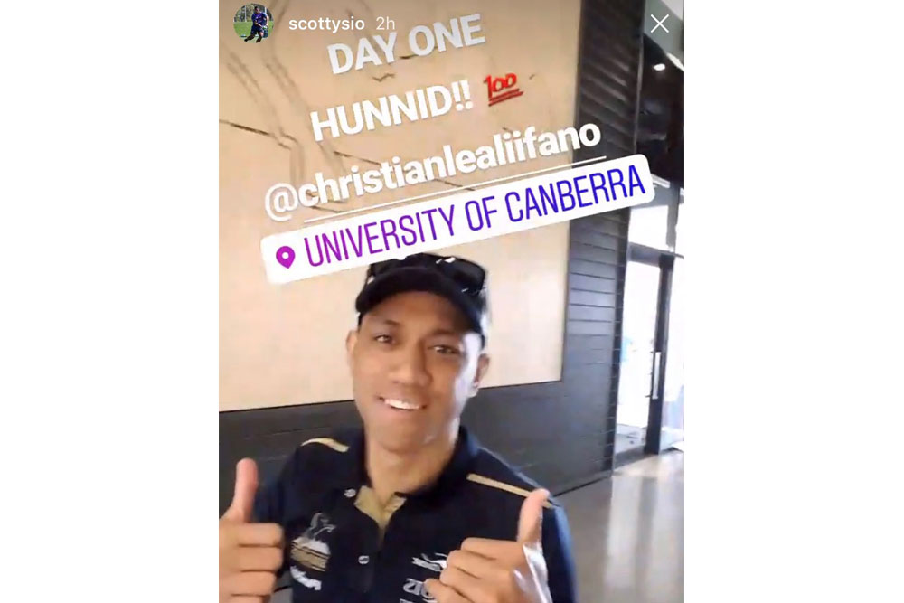 Christian Lealiifano back in Canberra on Saturday. Photo: Instagram
