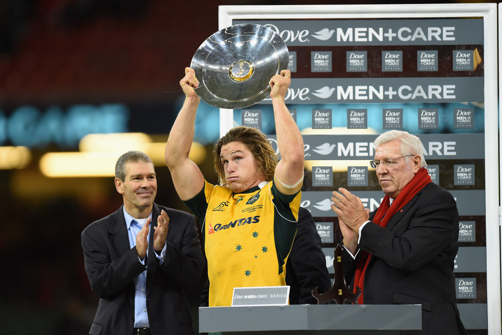 Michael Hooper captained the Wallabies against Wales in 2014. Photo: Getty Images
