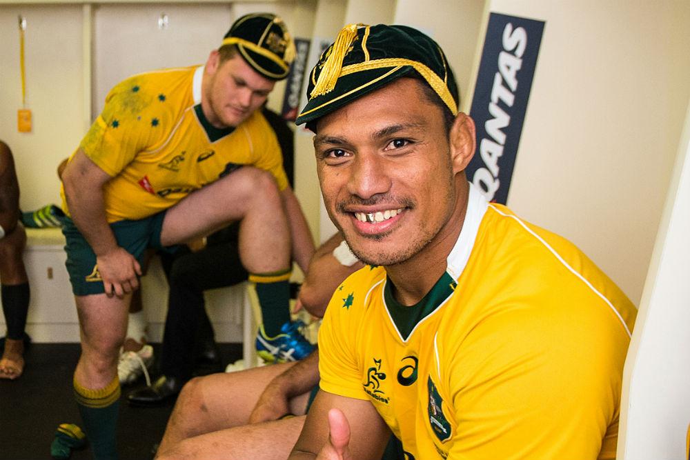 Lopeti Timani made his Test debut against Argentina. Photo: ARU Media/Stu Walmsley