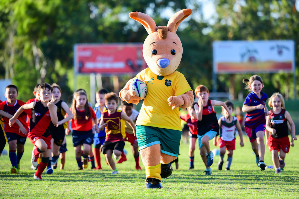 He represents the future of Rugby Australia, uniting and inspiring all of the nation. He is Wally!
