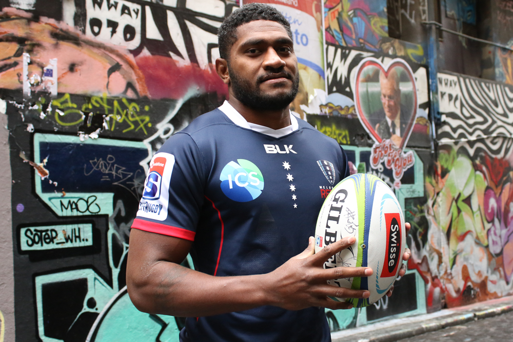 Isi Naisarani is staying in Melbourne. Photo: Melbourne Rebels