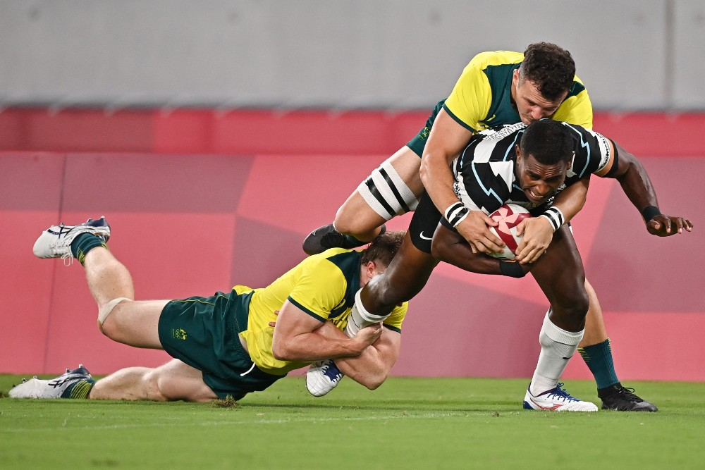 Fiji were too strong for Australia in the quarter-finals. Photo: Getty Images