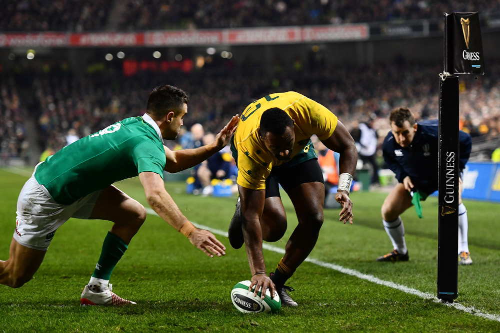 Tevita Kuridrani crossed for the fourth straight Test. Photo: Getty IMages