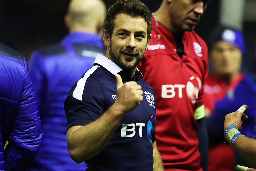 Greg Laidlaw had a good night with the boot against Argentina. Photo: Getty Images