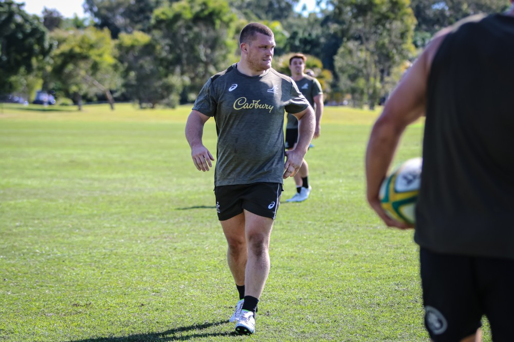 Tom Robertson reveals a chat with Dave Rennie helped reignite his Wallabies ambitions. Photo: Andrew Phan/Wallabies Media.