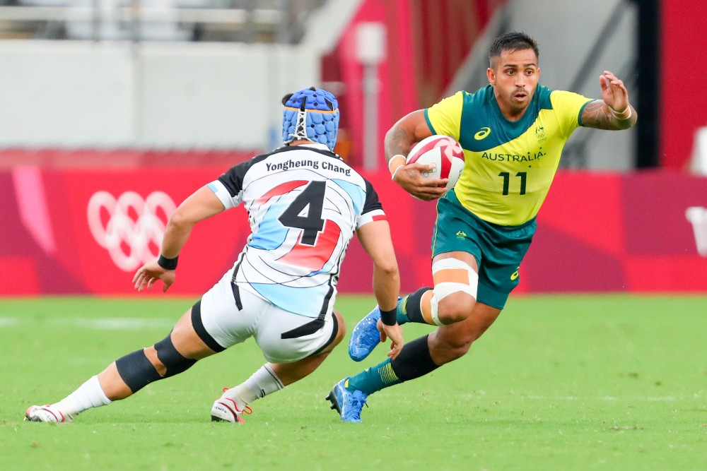 The second day of action at the Tokyo 2020 Olympic Rugby Sevens is underway. Photo: Getty Images