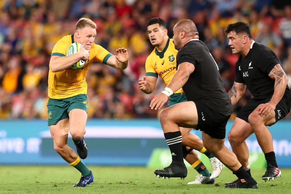 The Wallabies' simple game-plan proved effective against the All Blacks. Photo: Getty Images