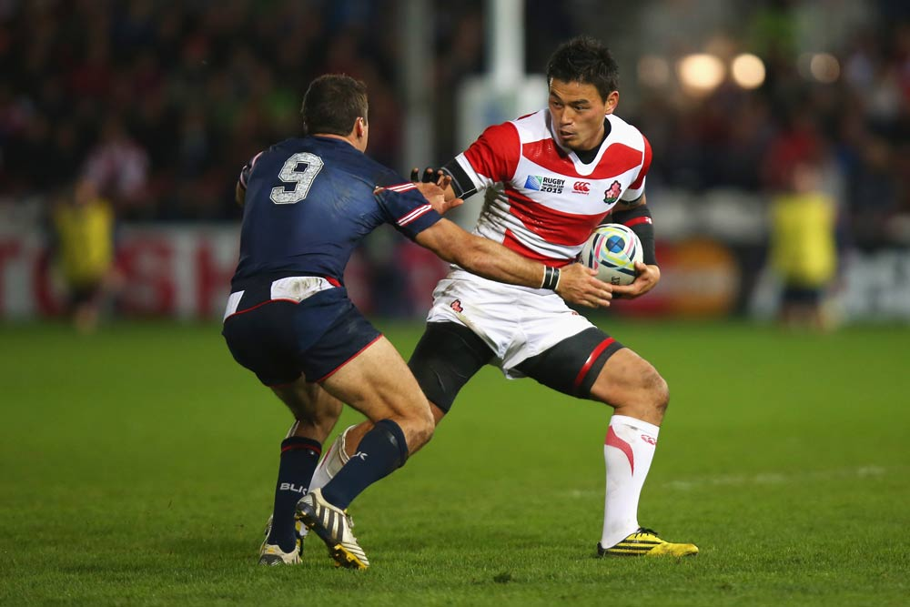 Fullback Ayumu Goromaru starred for Japan at the Rugby World Cup. Photo: Getty Images