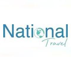 National Travel logo reds