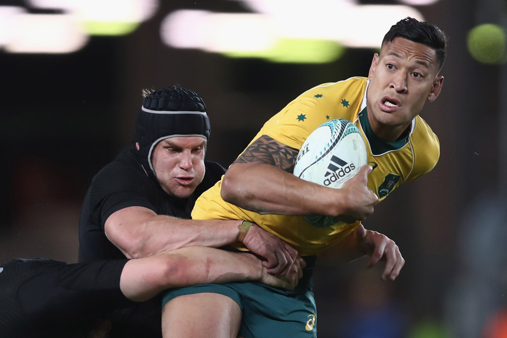 Israel Folau moved into the midfield. Photo: Getty Images