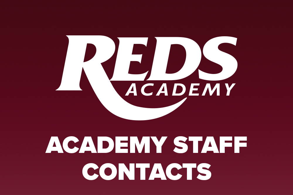 Reds Academy Staff contacts