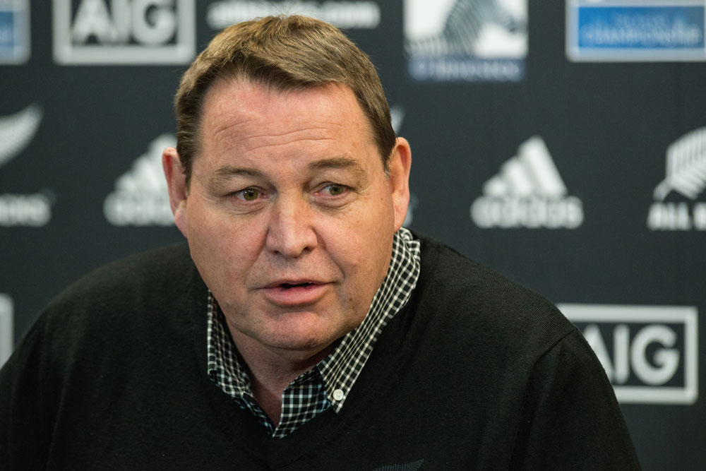 Steve Hansen is happy to take the underdog tag against Ireland. Photo: Getty Images