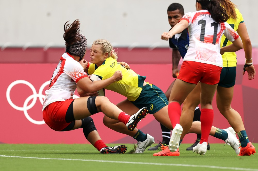 Emma Tonegato scored a hat-trick as Australia cruise to victory. Photo: Getty Images
