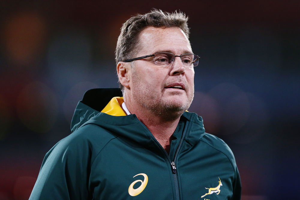 Rassie Erasmus is predicting defence will be pivotal at this year's World Cup. Photo: Getty Images
