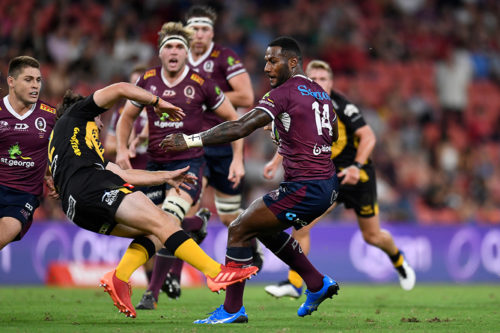 Suliasi Vunivalu makes a giant stride in his Rugby transition  Photo: Getty Images