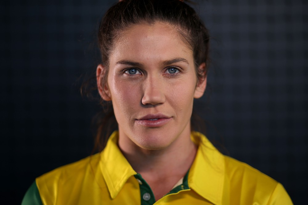 Charlotte Caslick has re-signed with Rugby Australia through to the Olympic Games. Photo: Getty Images