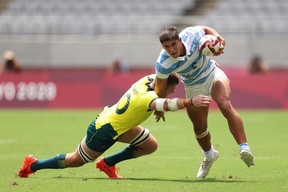 Argentina have defeated Australia in their opening game of the Sevens. Photo: Getty Images