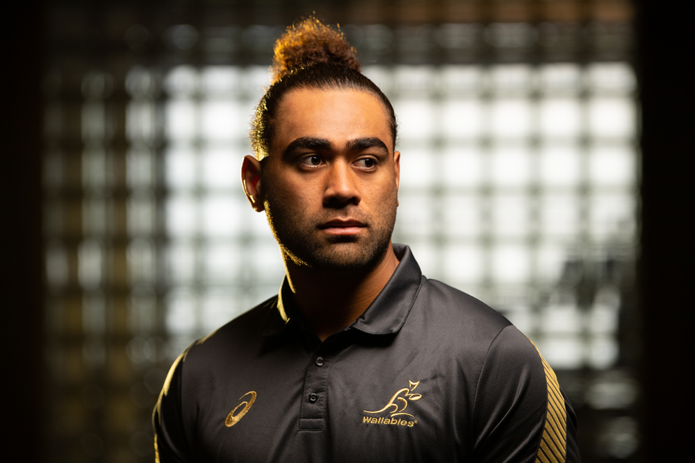 Lukhan Salakaia-Loto's family is the motivation behind everything he does in rugby. Photo: RUGBY.com.au/Stuart Walmsley