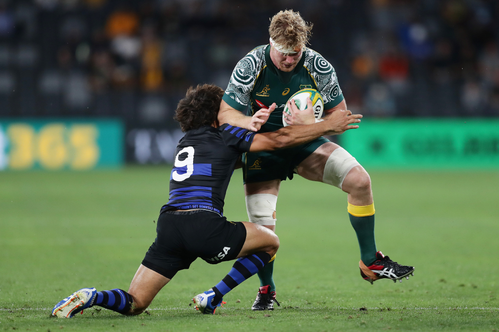 Matt Philip is ready to use the skills learnt in France for the Wallabies as he completes hotel quarantine. Photo: Getty Images